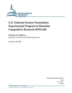 Primary view of object titled 'U.S. National Science Foundation: Experimental Program to Stimulate Competitive Research (EPSCoR)'.