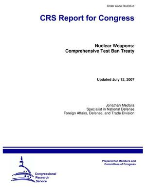Primary view of object titled 'Nuclear Weapons: Comprehensive Test Ban Treaty'.