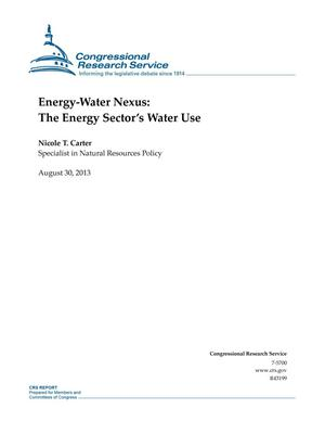 Primary view of object titled 'Energy-Water Nexus: The Energy Sector's Water Use'.