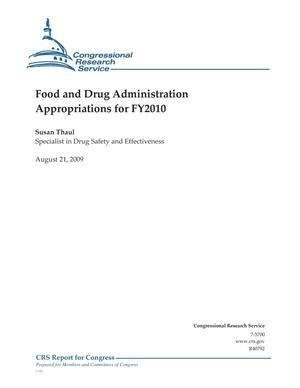 Primary view of object titled 'Food and Drug Administration Appropriations for FY2010'.