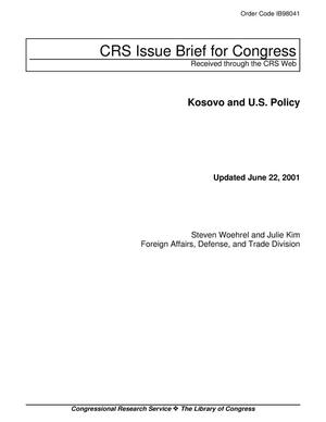 Primary view of object titled 'Kosovo and U.S. Policy'.