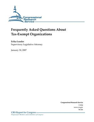 Primary view of object titled 'Frequently asked Questions About Tax-Exempt Organizations'.