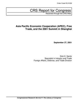 Primary view of object titled 'Asia Pacific Economic Cooperation (APEC), Free Trade, and the 2001 Summit in Shanghai'.