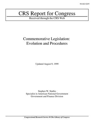 Primary view of object titled 'Commemorative Legislation: Evolution and Procedures'.
