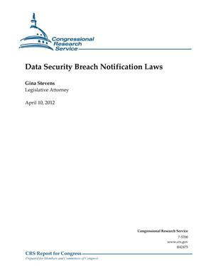 Primary view of object titled 'Data Security Breach Notification Laws'.