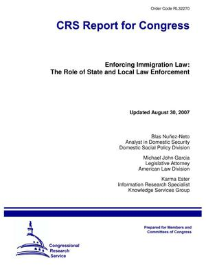 Primary view of object titled 'Enforcing Immigration Law: The Role of State and Local Law Enforcement'.