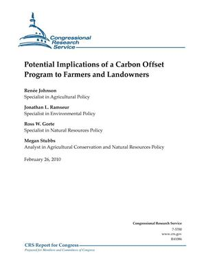 Primary view of object titled 'Potential Implications of a Carbon Offset Program to Farmers and Landowners'.