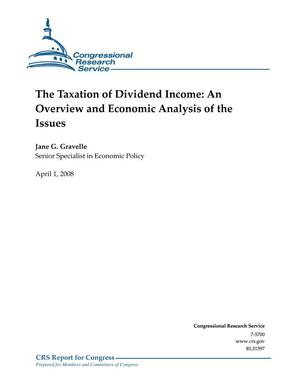 Primary view of object titled 'The Taxation of Dividend Income: An Overview and Economic Analysis of the Issues'.