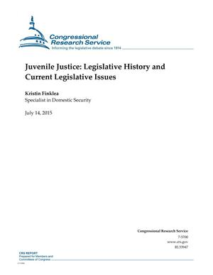 Primary view of object titled 'Juvenile Justice: Legislative History and Current Legislative Issues'.