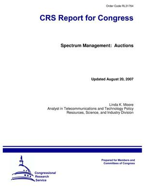 Primary view of object titled 'Spectrum Management: Auctions'.