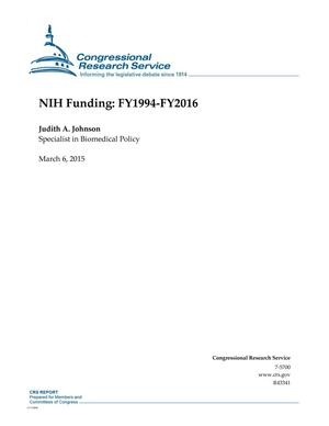 Primary view of object titled 'NIH Funding: FY1994-FY2016'.