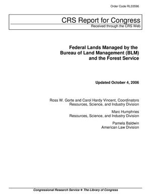 Primary view of object titled 'Federal Lands Managed by the Bureau of Land Management (BLM) and the Forest Service'.