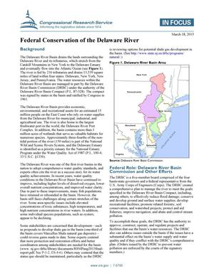 Primary view of object titled 'Federal Conservation of the Delaware River'.