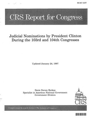 Primary view of object titled 'Judicial Nominations by President Clinton During the 103rd and 104th Congresses'.
