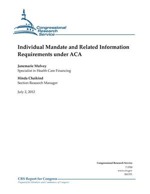 Primary view of object titled 'Individual Mandate and Related Information Requirements under ACA'.