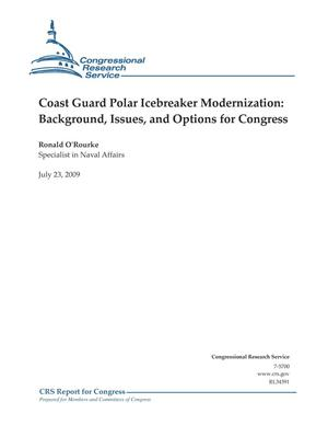 Primary view of object titled 'Coast Guard Polar Icebreaker Modernization: Background, Issues, and Options for Congress'.