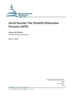 Primary view of object titled 'Social Security: The Windfall Elimination Provision (WEP)'.