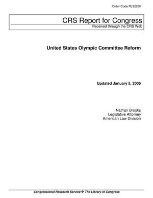 Primary view of object titled 'United States Olympic Committee Reform'.