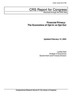 Primary view of object titled 'Financial Privacy: The Economics of Opt-In vs Opt-Out'.