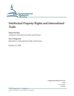 Primary view of object titled 'Intellectual Property Rights and International Trade'.