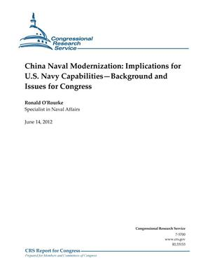 Primary view of object titled 'China Naval Modernization: Implications for U.S. Navy Capabilities—Background and Issues for Congress'.