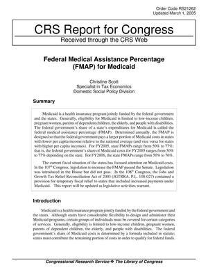 Primary view of object titled 'Federal Medical Assistance Percentage (FMAP) for Medicaid'.