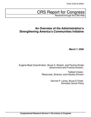 Primary view of object titled 'An Overview of the Administration's Strengthening America's Communities Initiative'.