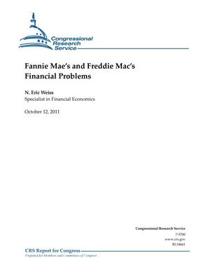 Primary view of object titled 'Fannie Mae's and Freddie Mac's Financial Problems'.