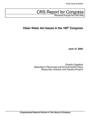 Primary view of object titled 'Clean Water Act Issues in the 109th Congress'.