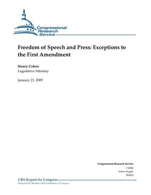 Primary view of object titled 'Freedom of Speech and Press: Exceptions to the First Amendment'.