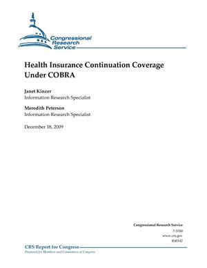 Primary view of object titled 'Health Insurance Continuation Coverage Under COBRA'.
