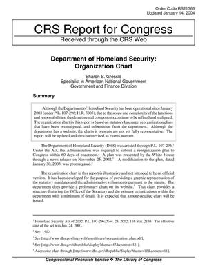Primary view of object titled 'Department of Homeland Security: Organization Chart'.