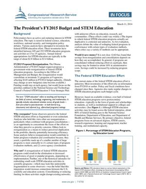 Primary view of object titled 'The President's FY2015 Budget and STEM Education'.
