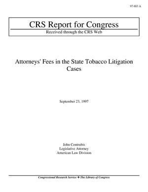 Primary view of object titled 'Attorneys' Fees in the State Tobacco Litigation Cases'.
