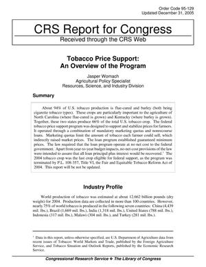 Primary view of Tobacco Price Support: An Overview of the Program