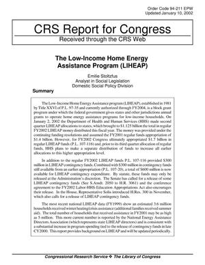 Primary view of object titled 'The Low-Income Home Energy Assistance Program (LIHEAP)'.