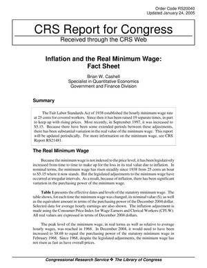 Primary view of object titled 'Inflation and the Real Minimum Wage: Fact Sheet'.