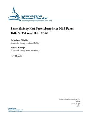 Primary view of object titled 'Farm Safety Net Provisions in a 2013 Farm Bill: S. 954 and H.R. 2642'.
