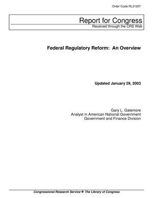 Primary view of object titled 'Federal Regulatory Reform: An Overview'.