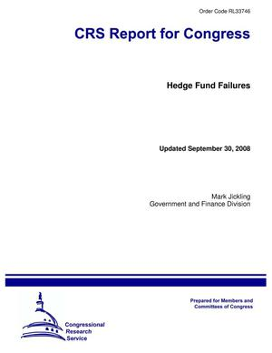 Primary view of object titled 'Hedge Fund Failures'.