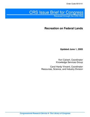 Primary view of object titled 'Recreation on Federal Lands'.