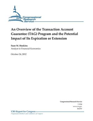 Primary view of object titled 'An Overview of the Transaction Account Guarantee (TAG) Program and the Potential Impact of Its Expiration or Extension'.
