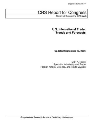 Primary view of object titled 'U.S. International Trade: Trends and Forecasts'.