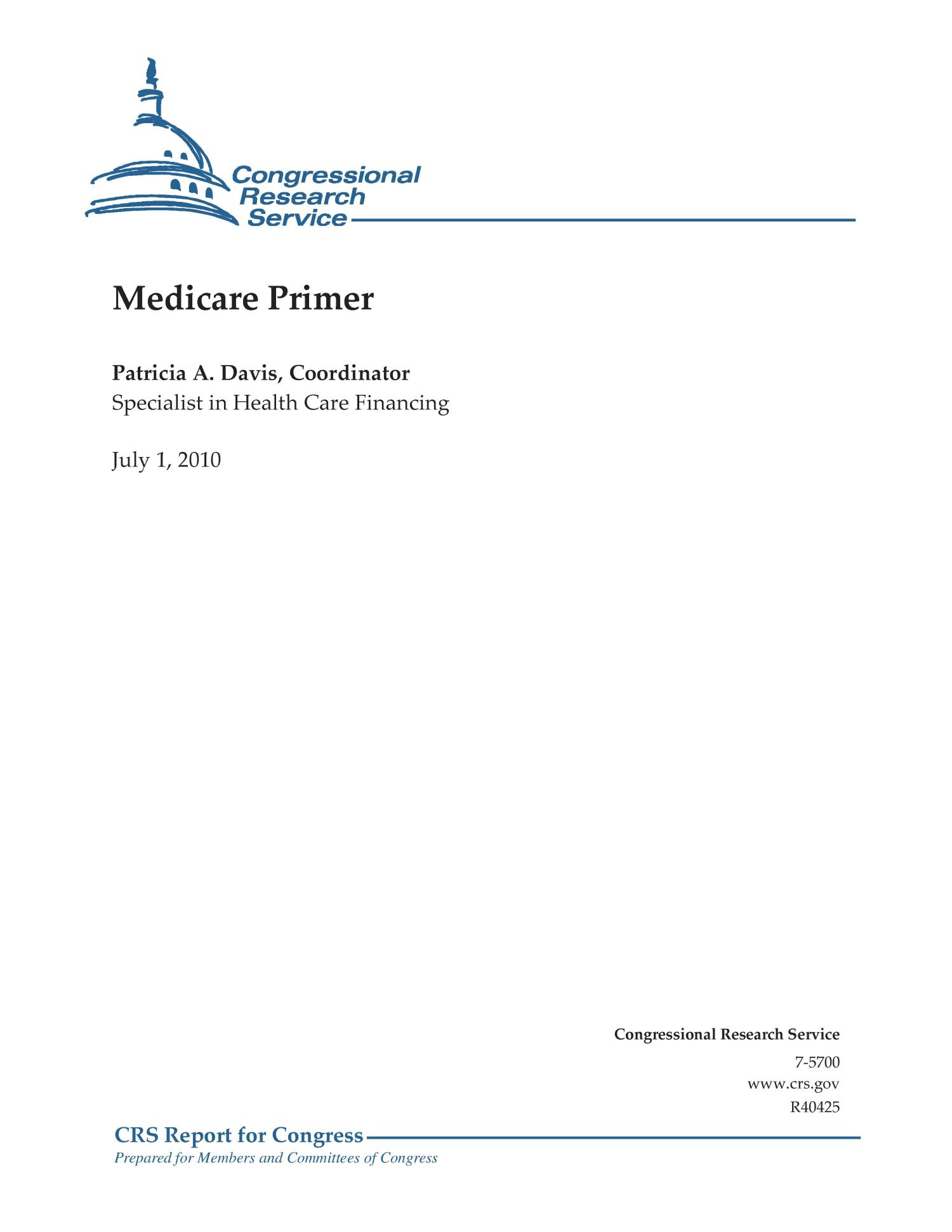 Medicare Primer                                                                                                      [Sequence #]: 1 of 27