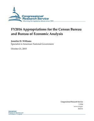 Primary view of object titled 'FY2016 Appropriations for the Census Bureau and Bureau of Economic Analysis'.