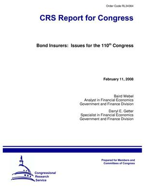 Primary view of object titled 'Bond Insurers: Issues for the 110th Congress'.