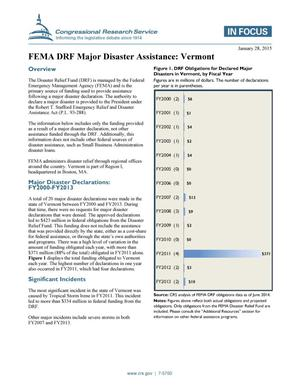 Primary view of FEMA DRF Major Disaster Assistance: Vermont