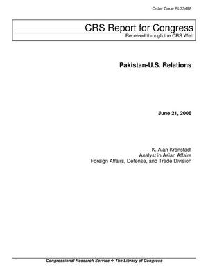 Primary view of object titled 'Pakistan-U.S. Relations'.