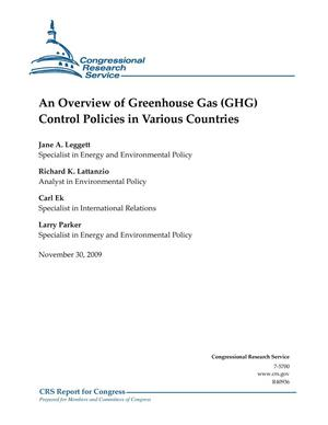 Primary view of object titled 'An Overview of Greenhouse Gas (GHG) Control Policies in Various Countries'.