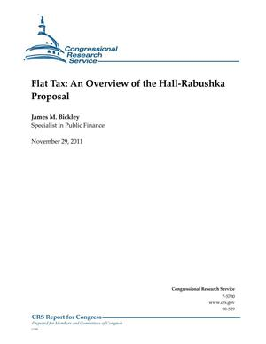 Primary view of object titled 'Flat Tax: An Overview of the Hall-Rabushka Proposal'.